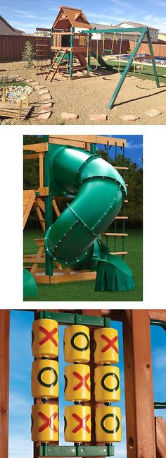 """This playset is a favorite among Home Depot customers. """"My three-year-old granddaughter sat on the back steps and waited all day for it to be put together, when it was finished we couldn't get her off of it to go in at dark :) She loves it, and it is sturdy enough for the old folks too."""" -- Home Depot customer Josie. As you can see, it looks nice, too, in a landscaped backyard."""