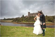 Bride and Groom, outside Dunvegan Castle, Isle of Skye, Scotland