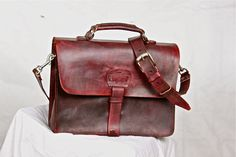 Hippie Rustic Leather Messenger Bag Men's by WhiteBuffaloRepublic, $139.99