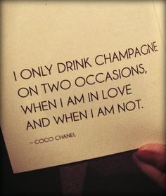 coco chanel on champagne.