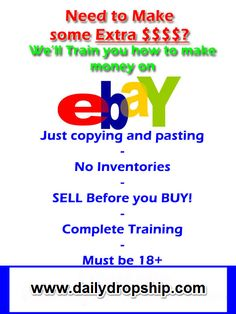 Learn How to list items on eBay and drop ship the items from amazon...