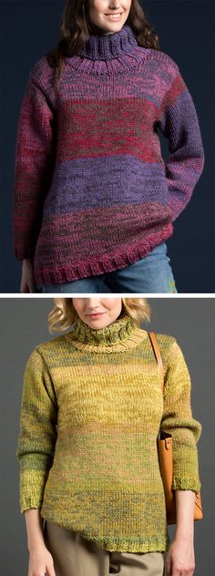 New crochet sweater pattern free pullover neckline ideas Easy Sweater Knitting Patterns, Double Knitting Patterns, Lace Knitting, Knit Patterns, Knit Crochet, How To Purl Knit, Sweater Design, Sweaters For Women, Stockinette
