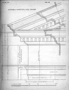 Schematic drawings of the facades of buildings and architectural details in the tables. Part 1 (Table Part 2 (Tables Neoclassical Architecture, Baroque Architecture, Classic Architecture, Historical Architecture, Architecture Plan, Architecture Details, Architecture Drawings, Sustainable Architecture, Landscape Architecture