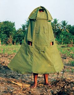 The Tent Dress » The model says she loves wearing the dress, except Boy Scouts keep trying to crawl up inside it.