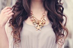 Product: Starfish Seashell Conch Pearl Series Choker Bib Necklace Multi-element Gold Plated Pendant   Material: gold plated alloy, shell,conch,pearl  Size: the necklace chain is 30cm with another 7cm adjustable, pendant.  Approximate area it will cover is 12cm w x 11 cm, the big star fish dia...