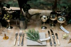 L A I D B A C K   L U X E _ I love the simplicity of this place setting; ready for a feast in the woods! Kx _ This image was taken from our recent outdoor eco-friendly inspiration shoot: _ Concept and photography: @katrinabartlam  Planning and styling: @fortheloveofweddings  Floral Design: @pheasant_botanica  Stationery: @ohwondercalligraphy  Cake: @cakedaydreams  Catering: @paisleyflour Crockery cutlery glassware: @the_vintage_hire Table: Bukuu  Dress: @minna_hepburn Hair and MUA…
