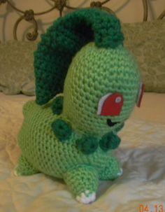Chikorita made with the pattern from Wolfdreamer - crochet amigurumi #pokemon #amigurumi