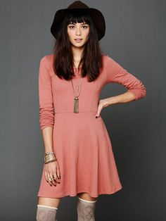 Lace Up Fit N Flare Dress ($50)