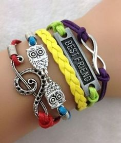 Owl Music Note Leather Charm best friend Bracelet plated Silver. Starting at $1 #Owl #Music Note #Leather #Charm #bestfriend #Bracelet plated #Silver #jewelry #Tophatter http://tophatter.com/lots/11314283?ref=1588603&campaign=twitter-share