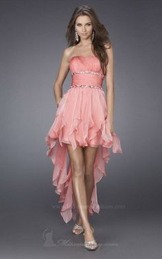 inexpensive prom dresses a-line strapless high low chiffon with beading/sequins Inexpensive Prom Dresses, Cheap Prom Dresses, Bridal Dresses, Girls Dresses, Bridesmaid Dresses, Homecoming Dresses 2014, Party Dresses 2014, Prom Dress With Train, The Dress