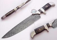 "12.50"" Custom Hand made Beautiful Damascus Steel chef / kitchen Knife (1095-1) #UltimateWarrior"