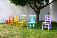 Spray Painted chairs... should I spray paint Allie's rocking chair???