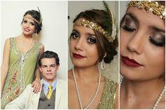 Flapper Daisy Buchanan & Gatsby Halloween Tutorial! (Hair,Makeup&Outfit) AMAZING GATSBY TUTORIAL