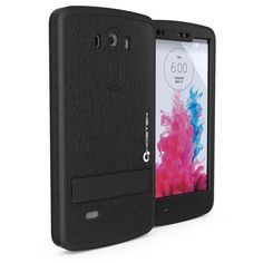 LG G3 Waterproof Case, Ghostek Atomic Black W/ Attached Screen Protector Fitted for LG G3 D850 D851 D855 VS985 LS990 GHOCAS245