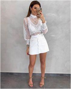 Body Tule Nave Off - Estacao Store, Classy Outfits, Girl Outfits, Casual Outfits, Cute Outfits, Fashion Outfits, Look Fashion, Girl Fashion, Womens Fashion, Paris Outfits