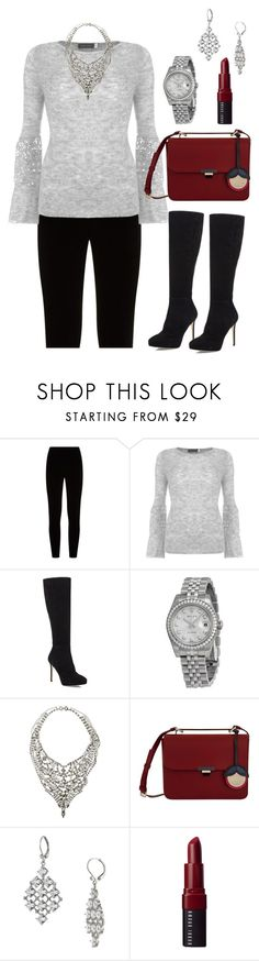 """Christmas Eve 2017 Look"" by sonyastyle ❤ liked on Polyvore featuring Eileen Fisher, Mint Velvet, Jimmy Choo, Rolex, Tom Binns, Furla, Carolee, Bobbi Brown Cosmetics, Christmas and polyvoreeditorial"