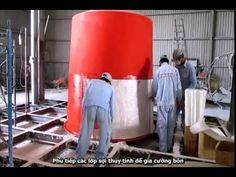 Quy trình sản xuất bồn composite frp chứa thực phẩm tại Hoàng Anh. Bồn composite (FRP) được thiết kế bằng chất liệu đặc biệt an toàn để chứa thực phẩm