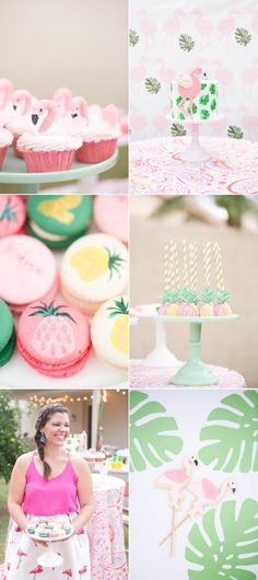 Flamingo Inspired Birthday Party! So cute and perfect for the kiddos summer birthdays! Or mine.