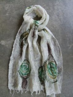 Luxury Scarf, Handmade Merino Wool Felted -THE SEATTLE COLLECTION- Cascadia MIMI PINTO http://www.amazon.co.uk/dp/B00AAN7C1M/ref=cm_sw_r_pi_dp_E6TIub06MDPXC
