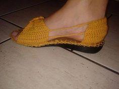 sandalias bajas tejidas a crochet