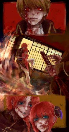 Sougo Okita x Kagura [OkiKagu], Gintama, Kamui Yato Kamui Gintama, Shingeki No Bahamut, Anime Family, Okikagu, Manga Couple, Bendy And The Ink Machine, Cute Anime Couples, Noragami, Shoujo