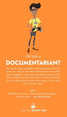 Are you a Documentarian? #DisneySide