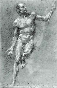 Pierre-Paul Prud'hon Charcoal, heightened with white chalk on blue paper