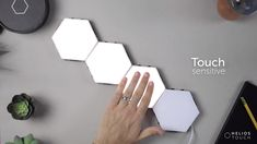 Helios touch is a modular, touch sensitive wall light. Nanoleaf Designs, Touch Video, Interactive Walls, Bathroom Wall Lights, Led Panel Light, Gamer Room, Home Technology, Diy Crafts For Gifts, Bedroom Vintage