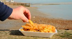 Why do fish and chips always taste better when you're on the seafront? #FoodieFanatic