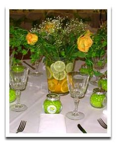 Centerpiece i created and table i decorated for the women Cheap table decoration ideas