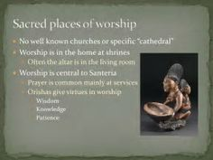 Sacred places of worship in Santeria