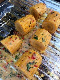 Grillede maiskolber med hjemmelaget spicy kryddersmør