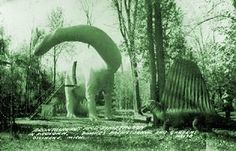 vintage photo from our favorite kitsch roadside park -- dinosaur gardens in ossineke, michigan