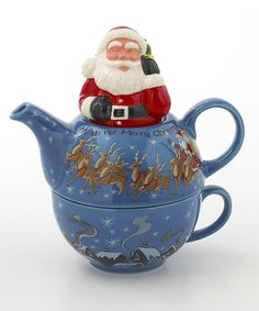 Santa Tea for One Set