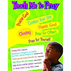 Teach Me to Pray Learning ChartTeach children how to use the Bible, say a prayer, and understand attributes of God. Charts feature clear, colorful illustrations