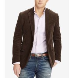 Polo Ralph Lauren Mens Collins Corduroy Sport C Brown new with tag for Sale in Charleston, SC - OfferUp Mens Corduroy Jacket, Corduroy Sport Coat, Mens Sport Coat, Sport Coats, Corduroy Blazer, Lauren Collins, Pijamas Women, Ralph Lauren Suits, Mens Fashion Blazer