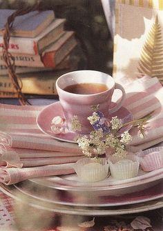 Tea, pastries, and books...