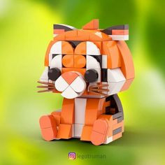 Tag someone who loves Lego & cute animals ✨ Lego animal friends- Tiger🐯 One of my favorite builds so far😆! Spent a lot of time to get… - Legos, Modele Lego, Lego Hogwarts, Big Lego, Cuadros Star Wars, Lego Challenge, Lego Sculptures, Lego Activities, Lego Craft