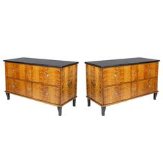 Pair of 19th C Painted Continental Chests of Drawers | From a unique collection of antique and modern commodes and chests of drawers at http://www.1stdibs.com/furniture/storage-case-pieces/commodes-chests-of-drawers/