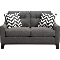 picture of Cindy Crawford Home  Hadly Gray Loveseat  from Loveseats Furniture