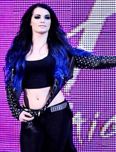 """WWE PAIGE....She beat the current Champion (Charlotte) on RAW-TV; but, Paige did NOT win the belt. (Paige is back to try to get back """"The House"""")."""