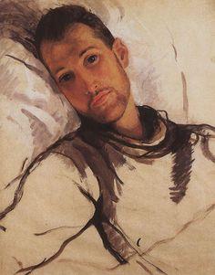 Portrait of R. Ernst  - Zinaida Serebriakova