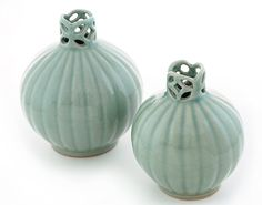 Korean Decorative Vase Set (Traditional Round Celadon) ? Unique Vases 100% Handcrafted ? Perfect Gift for Newly Weds, Housewarming Party, Mom, Grandma and Pottery Lovers ? Highest Quality and Craftsmanship >>> Learn more by visiting the image link. (This is an affiliate link and I receive a commission for the sales)