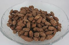 cinnamon roasted almonds made in a crockpot :) oh this makes me want to take that crock pot out of storage....
