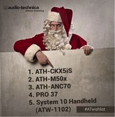 Santa Claus came early this year making a pit stop at the Audio-Technica workshop and created the #ATWishList.