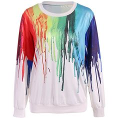 Oversized Splatter Paint Sweatshirt (£15) ❤ liked on Polyvore featuring tops, hoodies, sweatshirts, shirts, sweaters, oversized tops, splatter shirt, oversized shirt, over sized shirts and oversized sweatshirts