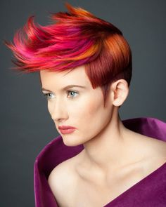 Bright Multi-color Hair