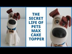 How to make Max from The Secret Life of Pets (fondant cake topper) - YouTube