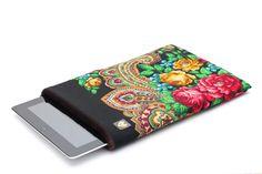 Russian Style Neoprene padded iPad sleeve from Russian Shawl from Pavlovo Posad by makeYOUmine. $45,00, via Etsy.