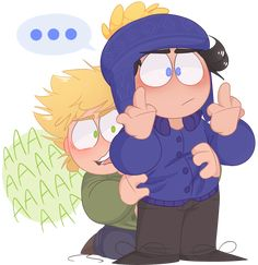damn it feels like i only ever draw Craig and Those Guys anymore hey but also uh please please don't forget that Tweek is a badass and could fuck up you. he protec South Park Funny, South Park Memes, South Park Anime, South Park Fanart, Craig South Park, Tweek South Park, Anime Chibi, Tweek And Craig, South Park Characters